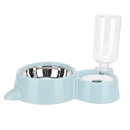 KUIDAMOS Diseño de tablilla para Fregadero, dispensador automático de Agua para Gatos, para Gatos, Perros para Mascotas, Que comen y beben(Blue)