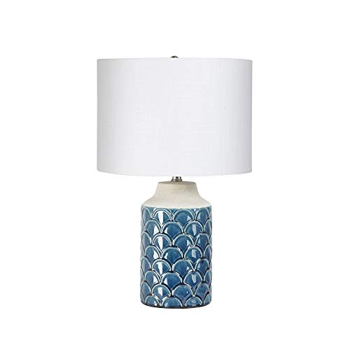 Silverwood CPLT1874 Table Lamp, Peacock Blue