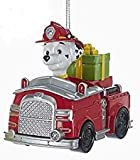 Paw Patrol Christmas Ornaments - Chase, Marshall & Rubble by Kurt Adler (Marshall)