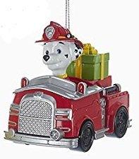 Paw Patrol Christmas Ornaments - Chase, Marshall & Rubble by Kurt Adler (Marshall)