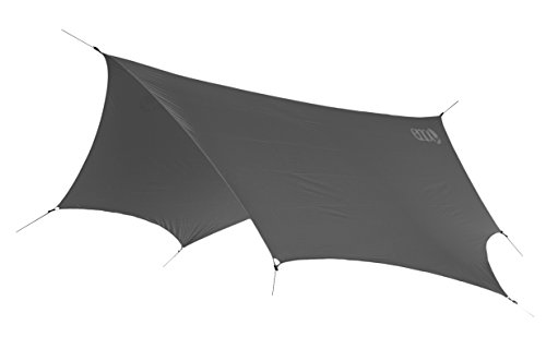 ENO, Eagles Nest Outfitters DryFly Rain Tarp, Ultralight Hammock Accessory, Charcoal