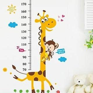 SIZOO - Wall Stickers - Cartoon Giraffe Height Chart Wall Sticker Animal Height Ruler for Kids room bedroom living room Ar...