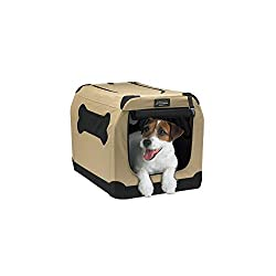 indoor/outdoor portable canvas dog crate by Petnation