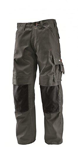 Bosch Professional Hose mit Knietaschen WKT 18, W38 L32, grau, Gr. 54, Bundweite 98cm, Beinlänge 82cm