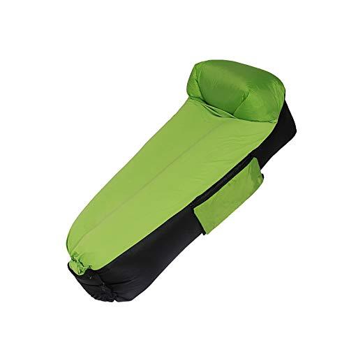 BANGSUN Aufblasbare Liege Couch Tragbare Relax Air Bag Sofa Lazy Bed Schlafen Grün Schwarz
