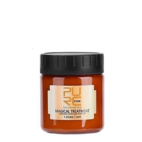 Mascarilla para el cabello,120ml Tratamiento avanzado raíces del cabello molecular Acondicionador profesional cabello,Crema acondicionadora nutritiva con suplemento profundo mágico-Aceite de argán
