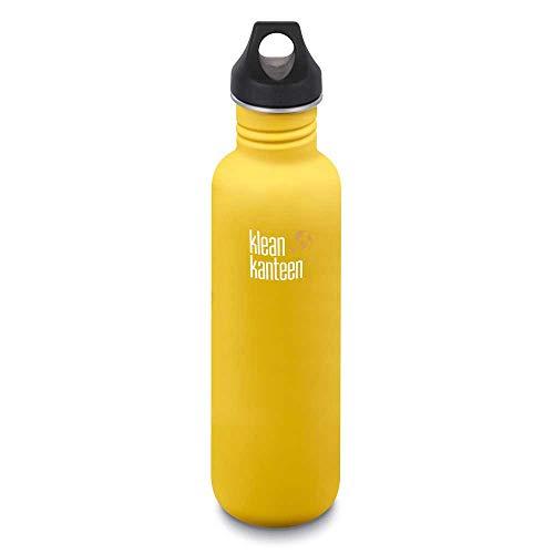 Klean Kanteen Erwachsene Classic mit Loop Cap Trinkflasche, Lemon Curry Matt, L