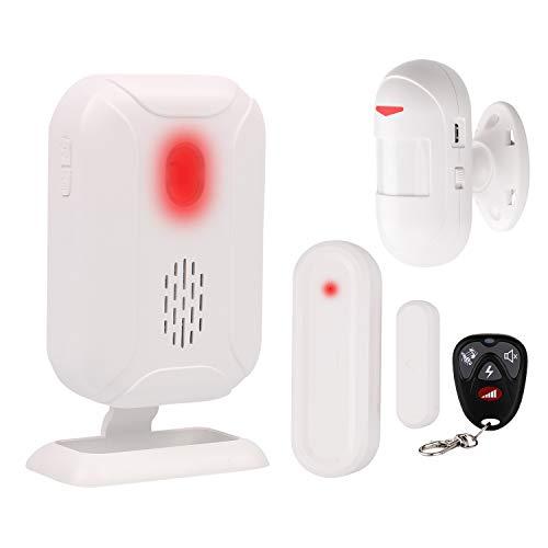 Mengshen Kit De Alarma Detector De Movimiento - Sistema De Alarma De Seguridad para El Hogar Admite 5 Modos, 36 Melodías, Larga Distancia De Transmisión(Control Remoto Incluido)