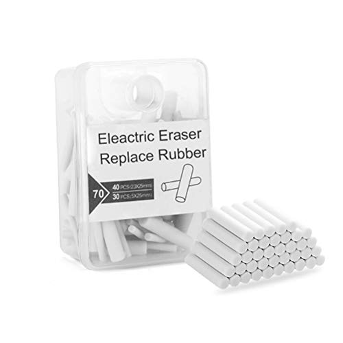 Electric Eraser Refill,70 Pieces Replacement Eraser Rubber Cores for...