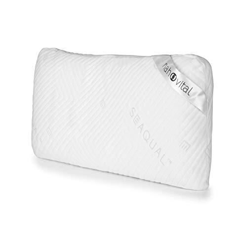 nah-vital® Kopfkissen mit Memory-Schaum 80x40x12,5 cm | SEAQUAL-Bezug aus nachwachsenden und recycelten Materialien | Für Seiten- und Rückenschläfer geeignet, viscoelastisch und atmungsaktiv
