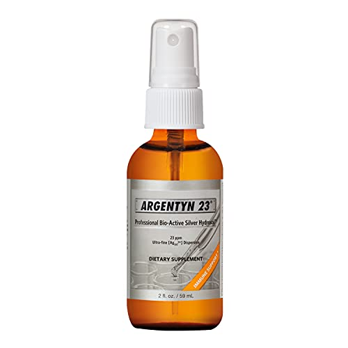 Argentyn 23® Professional Formula Bio-Active Silver Hydrosol for Immune Support* – 2 oz. (59 mL) Fine Mist Spray – Colloidal Silver – Colloidal Minerals
