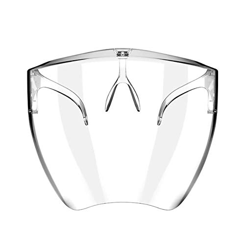 oceansEdge11 【USA Stock】 Clarity Face_Shield for Adult,Anti-Fog Clarity Face_Masks with Goggle-Frame Reusable Transparent,Clear Face Bandanas Breathable Comfortable,Visible Expression for Women Men