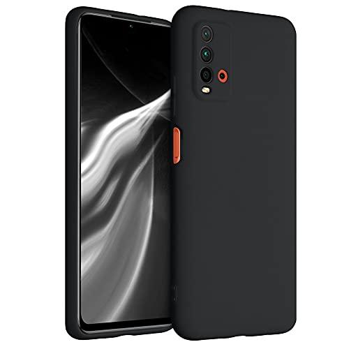 kwmobile Carcasa para Xiaomi Redmi 9T - Funda para móvil en TPU Silicona - Protector Trasero en Negro Mate