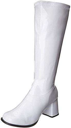 Ellie Shoes Women's Gogo Boot, White, 7 M US
