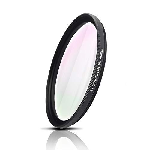 Filtro UV, Photography Filter, Vidrio óptico de Japón, Marco de Aluminio fresado CNC, Nano Coatings, Ultra-Slim, Weather-Sealed. para Nikon Sony Canon Fujifilm Olympus Tamron Sigma Pentax (40,5mm)