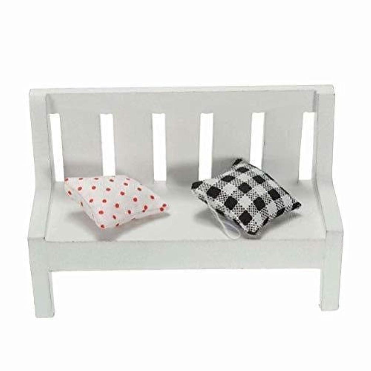 トロリー近代化するいたずらZheJia ミニチュア 風景装飾プラント 10,5x5x7cm White ドールハウス Homedecor HomeGardenDecor DIYCraft WoodenChair Bench Style.B