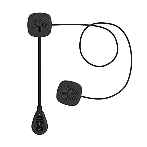 Greatangle-UK Casco de Motocicleta Auriculares Inalámbricos Inalámbricos 5.0 Auriculares Altavoz Manos Libres estéreo Música Casco Auriculares Negro