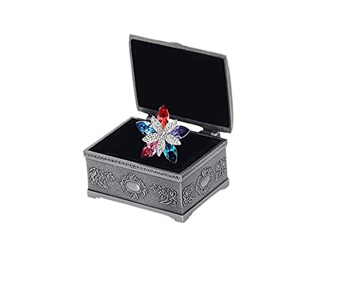 Collar de mujer colgante cristales de Austria flor colgante collar caja de joyería Zircon collar embalaje