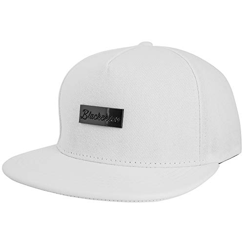 Blackskies Vanguard Snapback Cap Weiß Herren Baseball Mütze Kappe Suede Kunst-Leder