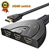 Hdmi Switcher 3 in 1 Out with High Speed Pigtail...