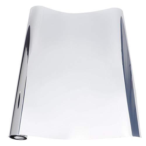 Película de la ventana, ventana decorativa de la ventana de la ventana de la ventana con PVC 0.5m x 3 metros (plata)