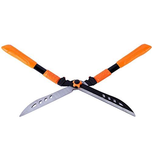 GONGFF Tijeras de jardín, Tijeras de podar manuales Podadoras de césped Tijeras de césped Resistentes a la corrosión y duraderas (Color: Naranja)