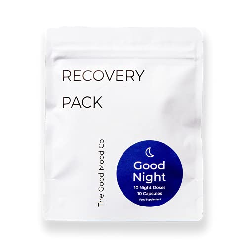 The Good Mood Co Good Night Recovery Pack for Quality Sleep and Overall Body Relaxation with 9 Natural Plant Extracts, Amino Acids & Vitamins (10 Night Doses)