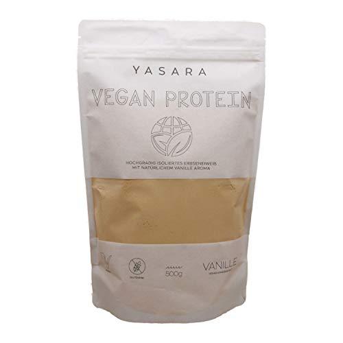 YASARA Vegan Protein – veganes Eiweißpulver – hoher Eiweißgehalt – pflanzlich, vegan und glutenfrei - gesund und nachhaltig - natürlicher Vanille Geschmack (Vanille)
