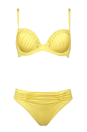 Maryan Mehlhorn, Bikini-Set, Oberteil gefüttert mit Bügel, Bikinislip, Dance 5367 Dess. 804 (36B, Mimosa (654))