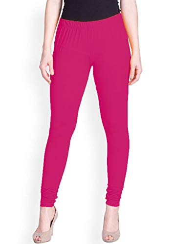 Lux Lyra Women's Cotton Regular Fit Churidar Legging (Candy Pink, Free Size)