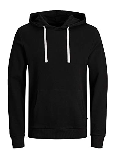 Jack & Jones Jjeholmen Sweat Hood Noos Capucha, Negro (Black Fit:Reg Fit), X-Large para Hombre
