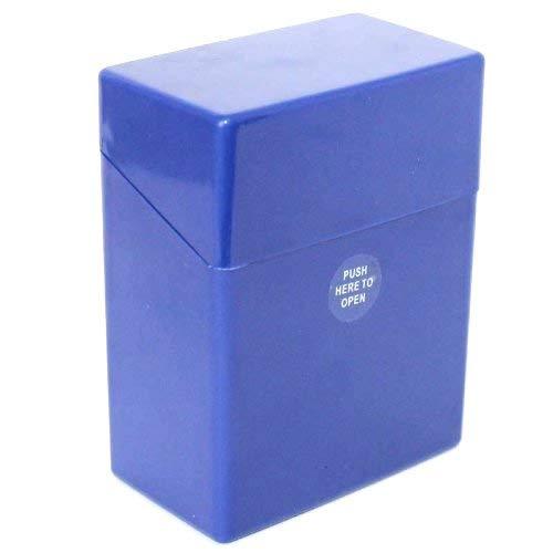 Zigarettenboxen Kunststoff bunt Sortiert Auswahl von Gr. L (20 Zigaretten) XL (25) XXL (30) und XXXL (40) (Blau Größe XXL für 40 Zigaretten)