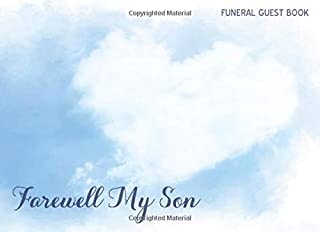 Farewell My Son: Baby Boy Funeral Guest Book for Celebration of Life & Warm Condolences