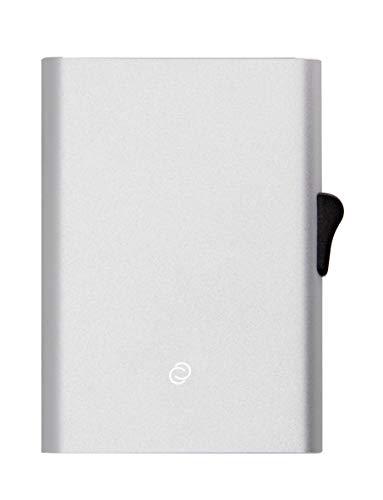 C-secure Kreditkartenetui aus Aluminium mit Kartenschutz RFID NFC Schütz, Kartenetui, Cardholder mit Pop-Up Design, Kreditkartenhüllen für Damen und Herren (Silber, XL (8 bis 12 Karten))