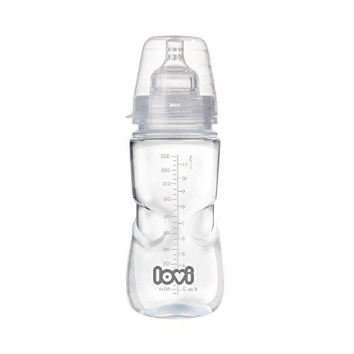 LOVI Anticólica Botella Biberón con Tetina Dinámica Silicona   330ml   Sistema SUPER Air Vent   Protege el Reflejo Natural de Succión de Bebé   Médicamente Probado