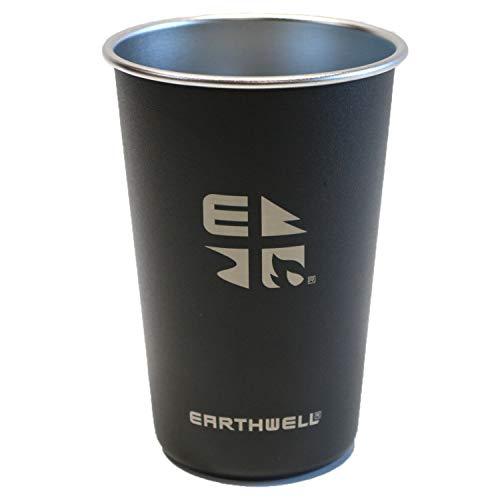 EARTHWELL 16oz Pint Cup Trinkflasche, Volcanic Black, 470ml