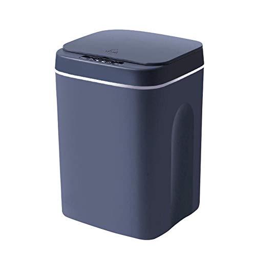 Intelligente Mülltonne Mit Mülleimerdeckel, Automatischer Sensorbehälter 12L / 14L / 16L, Vollautomatischer Mülleimer-Geruchssiegel, Intelligenter Mülleimer Für Badezimmer Schlafzimmer Küche Büro