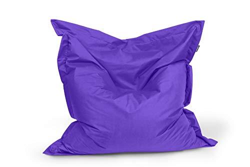 BuBiBag Sitzsack Sitzkissen Bean Bag Rechteck Größe 160 x 145 cm Indoor und Outdoor (lila)
