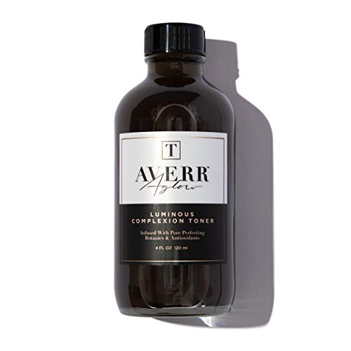 Averr Aglow Luminous Complexion Toner, Face Skincare, Reduce Blackheads Breakouts & Dark Circles, Natural Solution Moisturizing Facial Toner, Hydrating & Soothing Effect