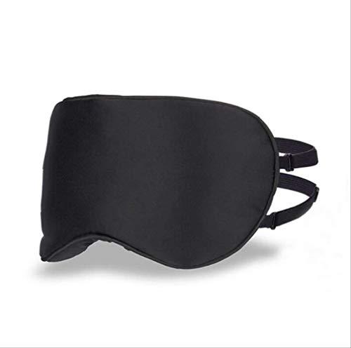 Reisen Sie mit einer 100% Seide Mulberry Seide Augenmaske, um Augenmüdigkeit Nap Super Licht und Belüftung zu lindern, für Männer, Frauen und Kinder schwarz