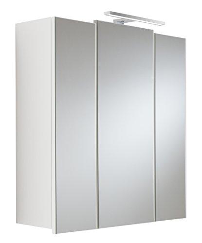 Posseik 5422 76 - Armadietto a Specchio, 3 Ante, Colore: Bianco
