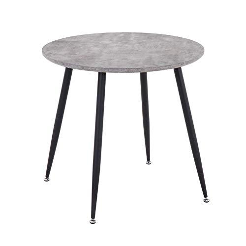 GOLDFAN Rund Esstisch Moderner Esstisch aus Holz Küchentisch Mit Metallbeinen für Wohnzimmer Esszimmer Büro