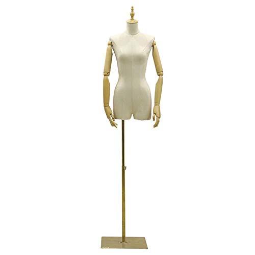 Tailors Dummy jurk vormen Arms Vrouwelijke Dressmakers Dummy Bruidsjurk Eenvoudig te monteren mannequin volledige lichaam