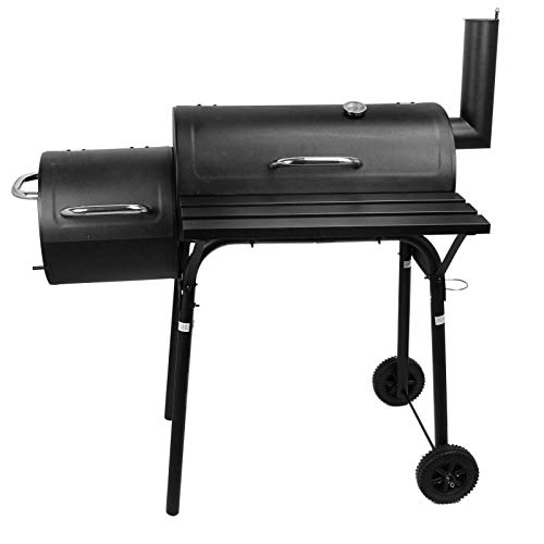 Discover Bargain CJ Online Shop Large Charcoal Grill Outdoor Portable Barbecue Offset Smoker BBQ Cam...