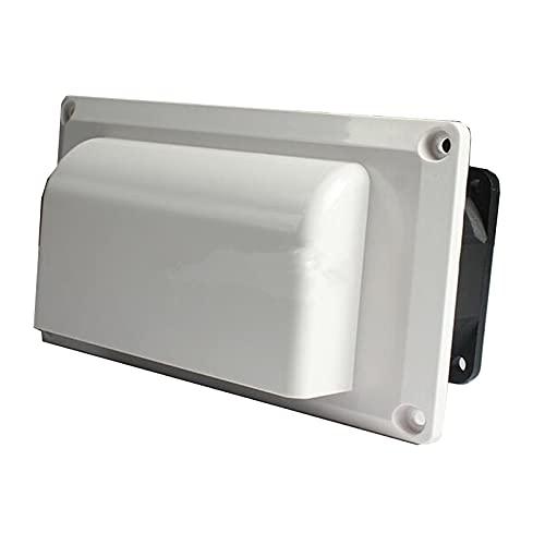 DFGH Ventilador de salida de aire montado en el lado del ventilador de ventilación para RV, campana extractora de aire Canravan Range Fume Ventilador de escape DC12V 25W (color: blanco)