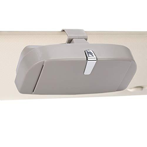 MengH-SHOP Auto Brillenetui Universal Brillen Aufbewahrungsbox mit Magnetischem Funktion und Karteneinschub Multifunktionale Auto-Brillenbox für Auto Sonnenblende (Grau)