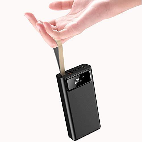 Wdszb Power Bank de Alta Capacidad de 30000 Mah, Cargador portátil con Pantalla Digital LED y Luces LED Paquete de batería Externa de Carga rápida para teléfonos móviles, tabletas y Otros disposit