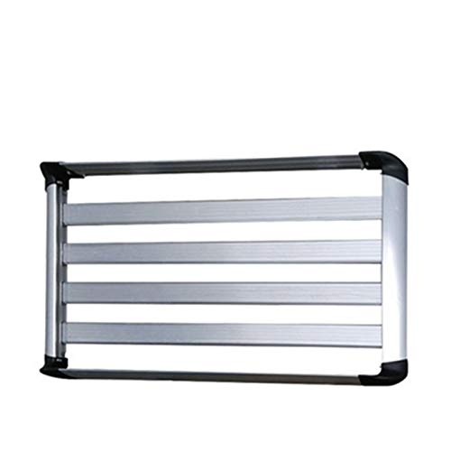 Baca Coche Universal 130x90cm Coche de aluminio superior del coche Montado Casero de carga Cesta de equipaje con piezas de montaje Color de plata o color negro 1 (Color : Silver 100X90CM)