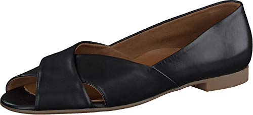 Paul Green Damen Cut-Out-Ballerina, Damen Riemchenballerinas,Sommerschuhe,spangenballerinas,Mary-Jane,Ladies,Women's,Schwarz (028),39 EU / 6 UK