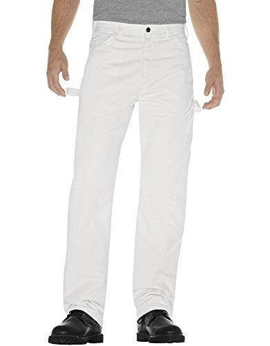 Dickies Men's Painter's Utility Pant Relaxed Fit, White, 34x32